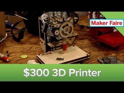 Maker Faire 2013: The $300 3D Printer!
