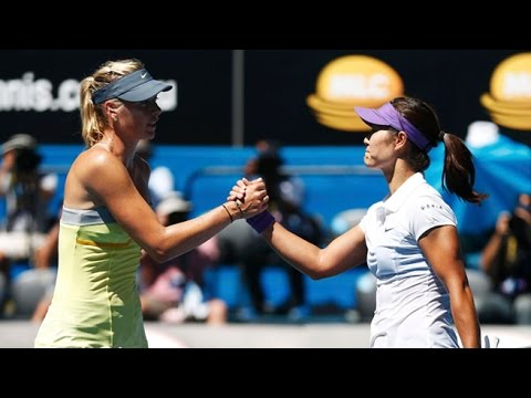Li Na VS Maria Sharapova Highlight 2013 AO SF