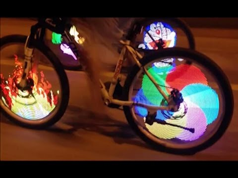 Tutorial on Installation of Bicycle Tire Spoke LED Light Bike Wheel Led Signal Light - TVC Mall