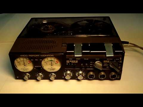 Uher 4400 Report Monitor Reel-to-Reel Stereo Recorder Demo