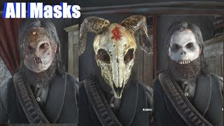 Red Dead Redemption 2 - All Masks Location & Showcase (100% Post Game)