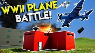 LEGO WWII PLANE DOGFIGHT & BASE BATTLE! - Brick Rigs Multiplayer Gameplay - Lego Airplane Battle