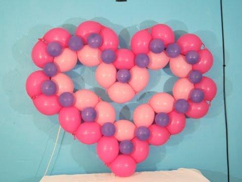 Corazon con globo bipolo- Decoraciones con globos