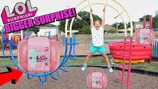 LOL Surprise BIGGER SURPRISE SCAVENGER HUNT FOR LOL DOLLS AT THE PARK PLAYGROUND FOR KIDS!