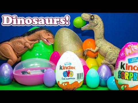 DINOSAURS Disney Dinosaur Surprise Eggs with Disney Tsum Tsum a Surprise Egg Video