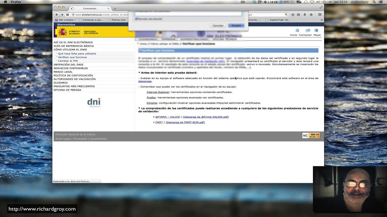 Java 7 y firma en DNI Electrónico en OS X Mavericks 10.9.5 - YouTube