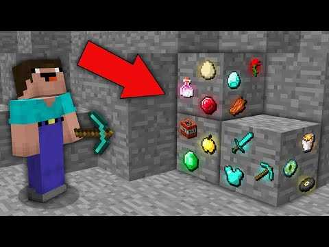 Minecraft NOOB vs PRO  NOOB MINED RAREST RANDOM ITEMS ORE IN MINE! Challenge 100 trolling