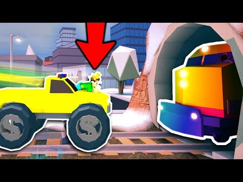 HOW TO GLITCH THE TRAIN in JAILBREAK! ( Roblox )