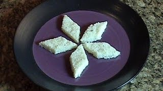 Barfi - Coconut Burfi - Indian Dessert (Mithai Recipe)