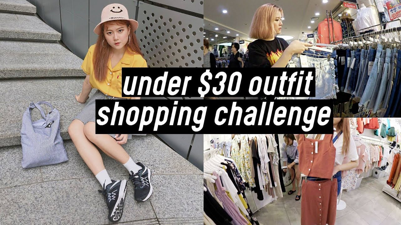 Under $30 Summer Outfit Shopping Challenge at Goto Mall Korea | DTV #28