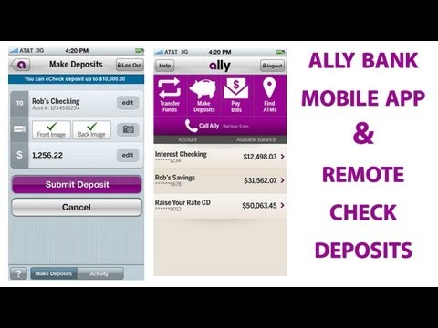 Remote Echeck Deposits Using The Ally Bank Apps For Android And iOS Smartphones