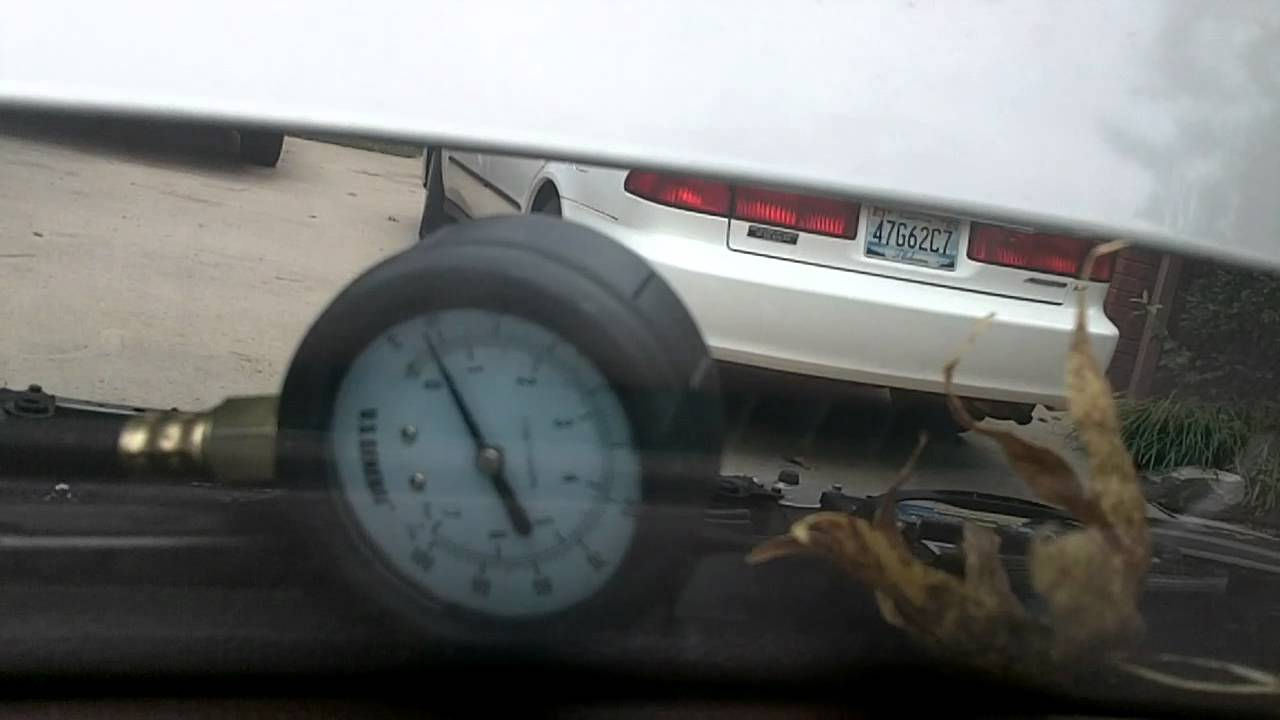 1993 Honda Accord Ex Coupe Fuel Pressure Test Youtube