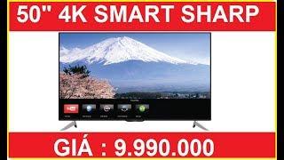 Đánh giá Smart Tivi Sharp 50 inch 4K LC-50UA6500X giá 10tr - Rẻ dễ dùng