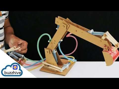 How to make a Hydraulic Dozer at home | TechMandy