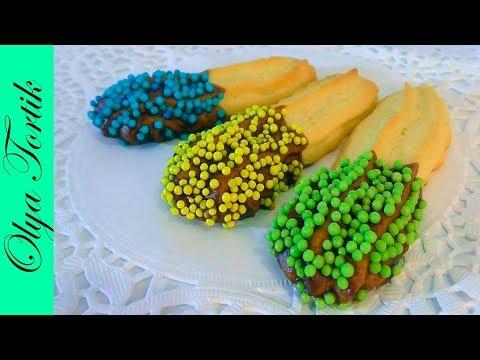 Песочное Печенье за 5 минут Песочное тесто видео рецепт /// Olya Tortik Домашний Кондитер