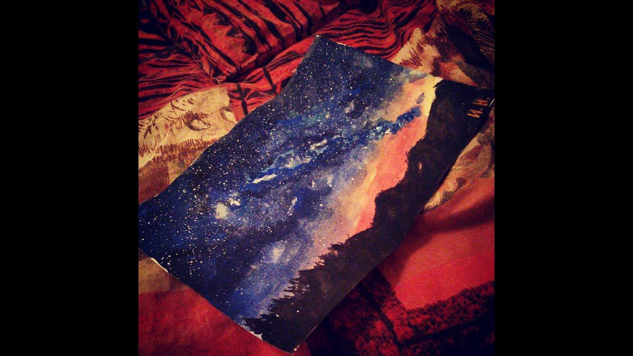 Galaxy Tutorial Drawing Galaxy | Landscape Drawing