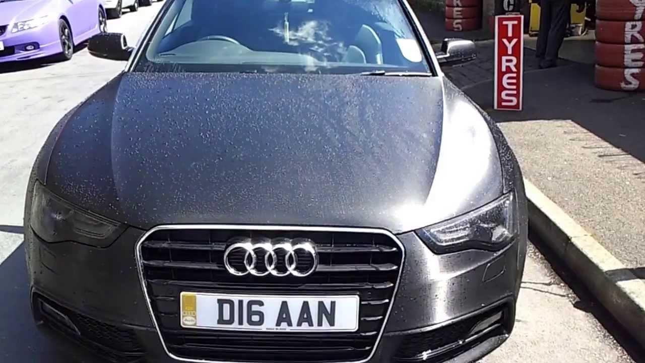 Audi A5 S Line 3m Brushed Metallic Black Wrap Gstarwraps