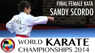 Sandy SCORDO of France. Kata Unsu. FINAL. 2014 World Karate Championships