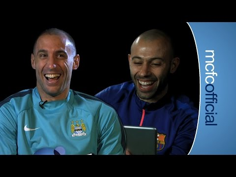 FUNNY ZABALETA CHATS WITH MASCHERANO | City v Barcelona preview