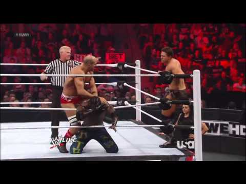 Kofi Kingston and R-Truth vs The Miz and Antonio Cesaro w/Aksana WWE Raw 9/10/12