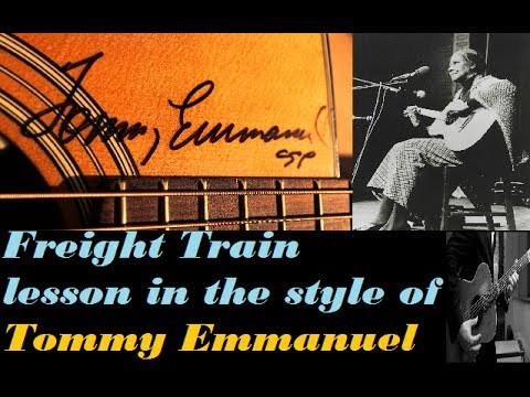 *NEW* Freight Train Lesson By Asa (Tommy Emmanuel Style)