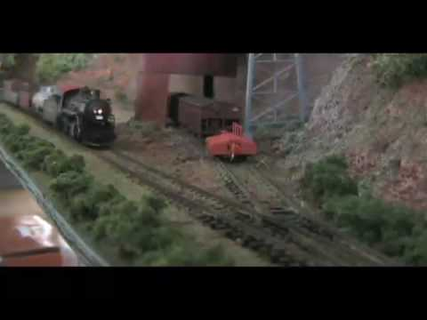 Southern Railway (USA) based N Scale Layout Video