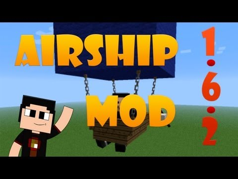 Minecraft de PC: Mod Review Nave Voladora I AirShip I para 1.6.2