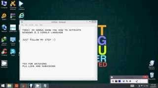 download lagu How To Activate Windows 8.1 Single Language 32 Bit gratis