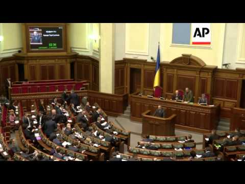 Turchynov tells parliament that operation has commenced north of Donetsk