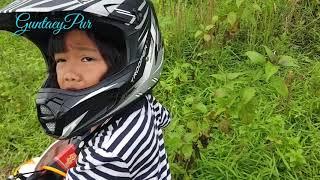 My little girl practices motocross on the RMC track (Khansa hana Aurelia)
