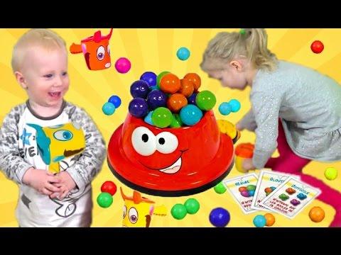 Веселая Челлендж Игра БАРБОСИКИ детские развлечения от Миланы дети играют собирают шарики