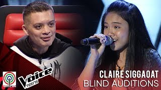 Claire Siggaoat - Rise up | Blind Audition | The Voice Teens Philippines 2020