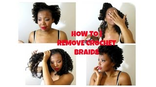 HOW TO | REMOVE CROCHET BRAIDS (CUT, ACV CLARIFY & CONDITION METHOD)
