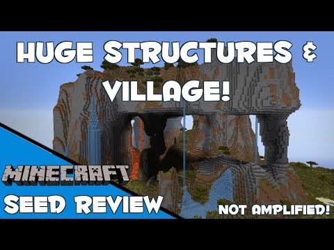 HUGE STRUCTURES & VILLAGE! - Minecraft 1.8 Seed