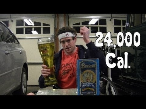 Idiot Consumes 24,000 Calories of Fat in 3min