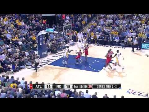 NBA, playoff 2014, Pacers vs. Hawks, Round 1, Game 5, Move 8, George Hill, layup