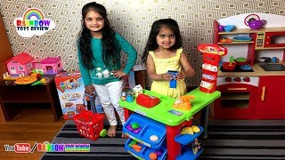 Kids Toy Supermarket Baby Sisters Pretend Play Groceries Shopping At Supermarket Toy Store Playtime