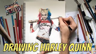 ☠ HARLEY QUINN 🎭 Speed Drawing 🎨