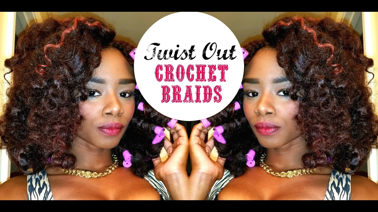 Twist Out with Crochet Braids - YouTube