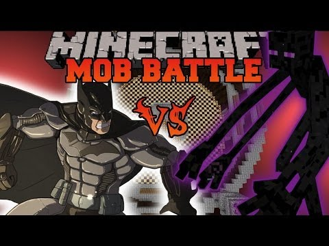 MUTANT ENDERMAN VS. BATMAN - Minecraft Mod Battles - Mob Battle - Mutant Creatures Superheroes Mods