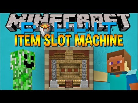 Minecraft Plugin: ITEM SLOT MACHINE - WIN THE JACKPOT!