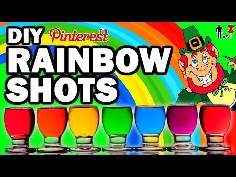 DIY Rainbow Shots, Man VS Corinne VS Pin