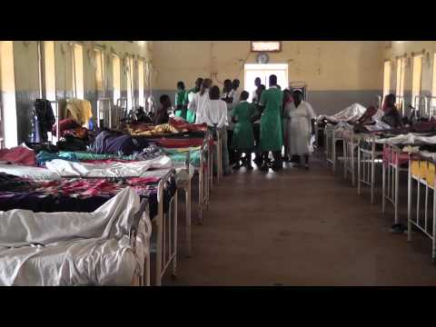 Wide shot of hospital room in Jinja,Africa