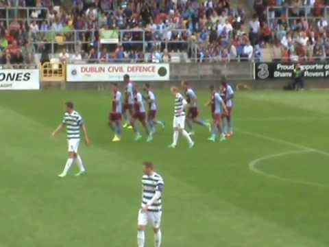 Shamrock Rovers V Aston Villa - Friendly 4th Aug - Andreas Weimann Goal -