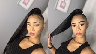 HIGH SLEEK DRAWSTRING PONYTAIL TUTORIAL