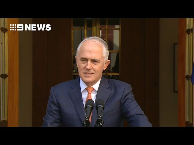 Turnbulls last speech as leader  Nine News Australia 2018