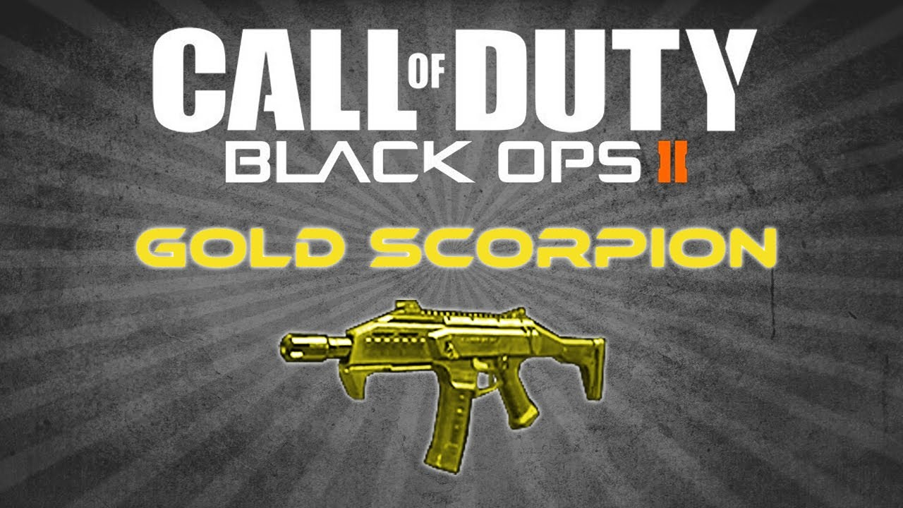 Gold Scorpion Black Ops 2 Gold Scorpion Black Ops 2