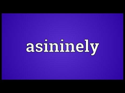 Header of asininely