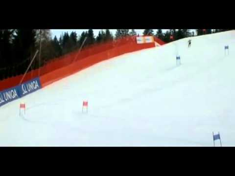 Lindsey Vonn Crash at Ski World Championships Austria 2013