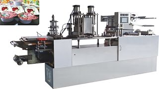 cups forming filling sealing machine fully automatic for apple jam honey thick sauce juice HFFS